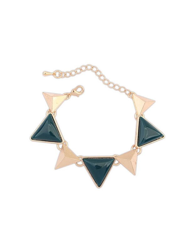 Occident Retro Punk Geometria Triangle Moda Bracciali